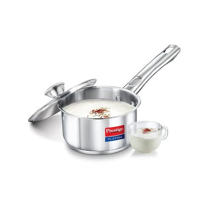 Prestige Platina Stainless Steel Sauce Pan 200mm 3 Litre ( 36504 , Silver )