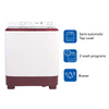 Haier 6.5 Kg Semi-Automatic Top Loading Washing Machine (HTW65-1187BT, Burgundy)
