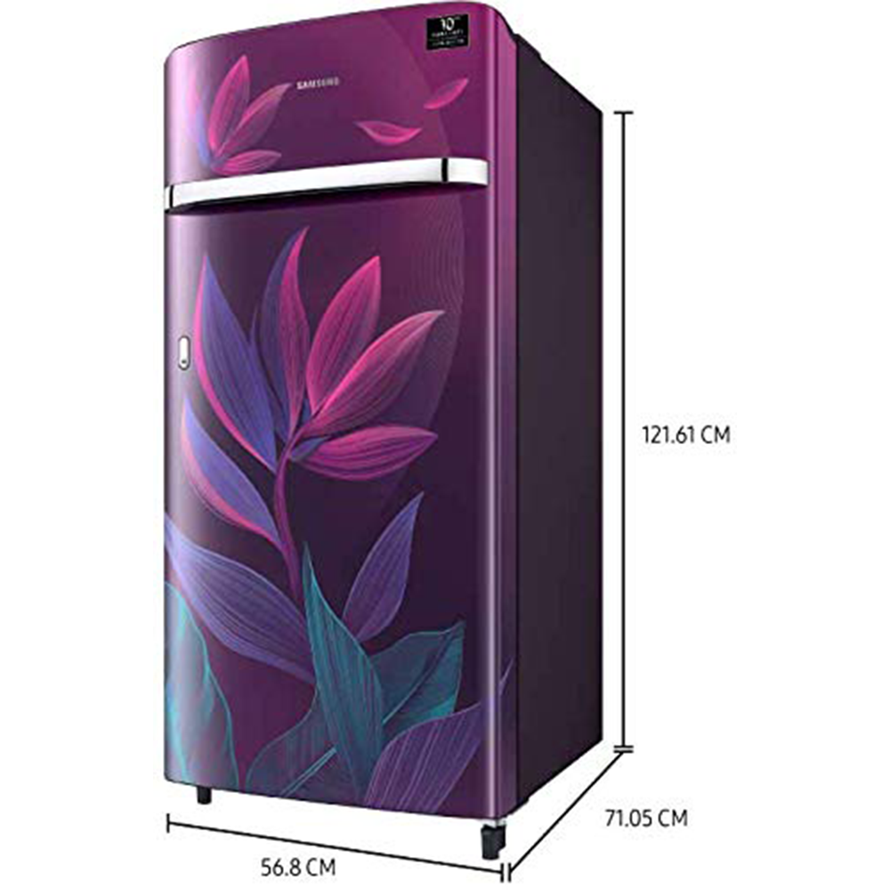 Samsung 198 L 5 Star Inverter Direct-Cool Single Door Refrigerator (RR21T2G2W9R/HL, Paradise Purple)