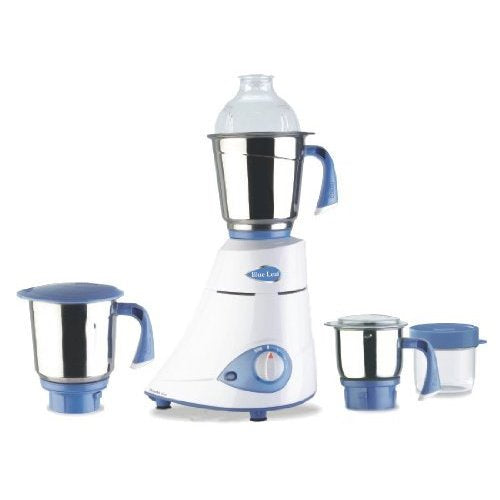 Preethi Blue Leaf MG-149 600 W Mixer Grinder  (White, 3 Jars)