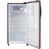 LG 190 L 4 Star Inverter Direct-Cool Single Door Refrigerator (GL-B201ASCY, Scarlet Charm)