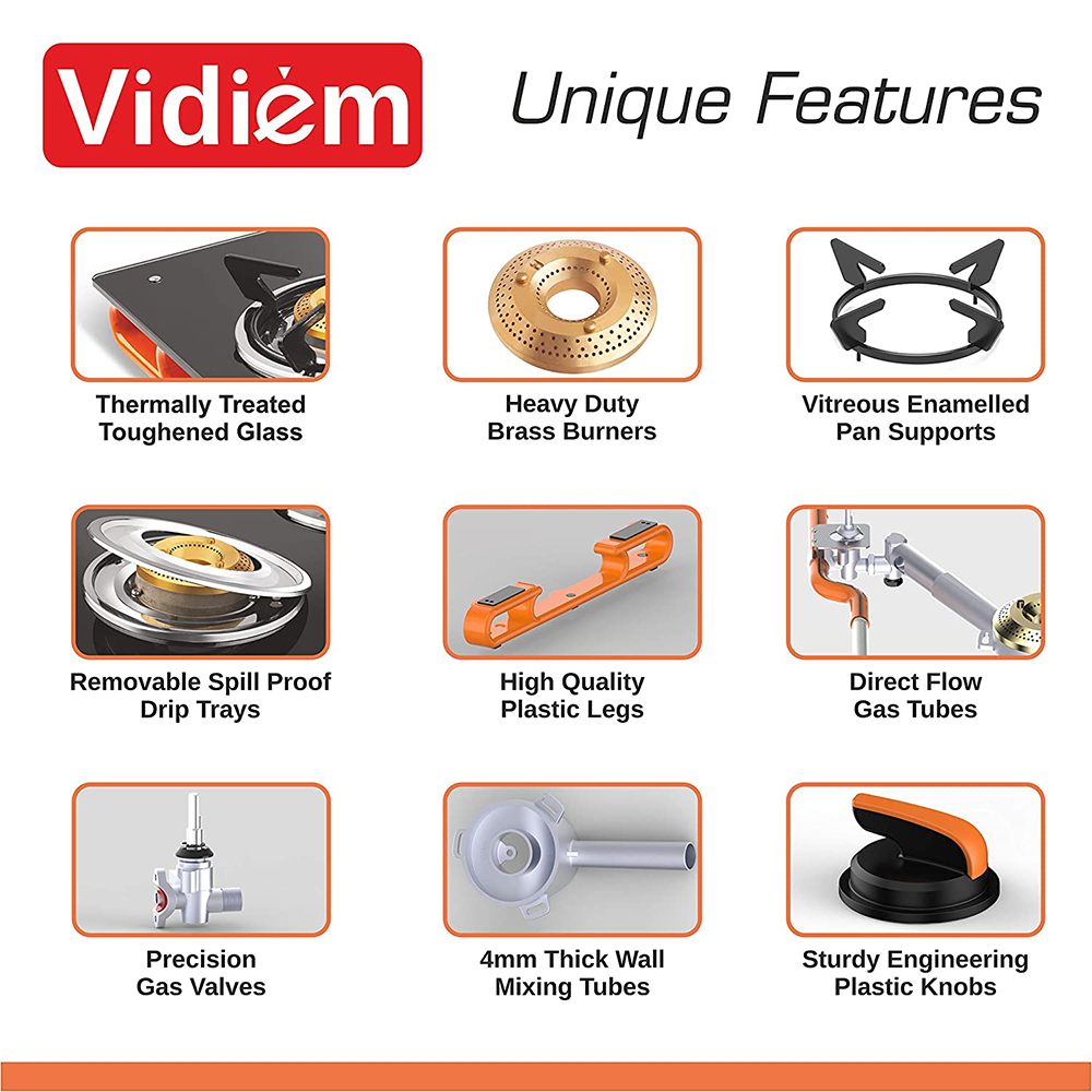 Vidiem Air Plus 3 Burner Gas Stove