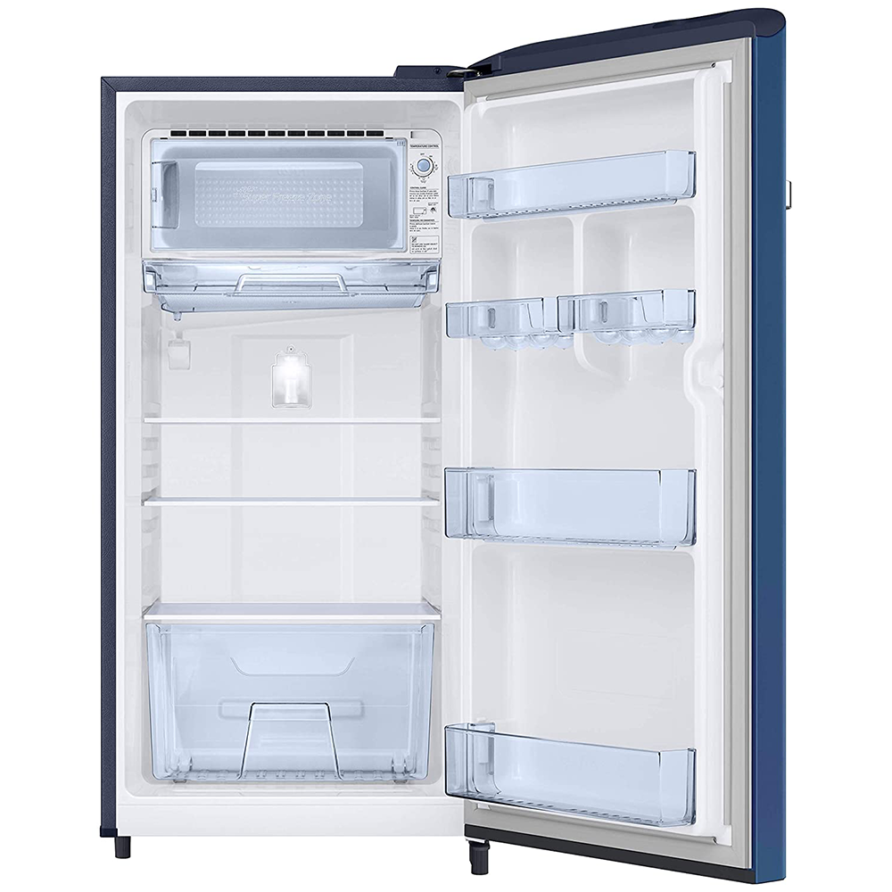 Samsung 198 L 4 Star Inverter Direct-Cool Single Door Refrigerator (RR21T2G2XCU/HL, Camellia Blue)