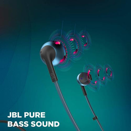 JBL T205BT Pure Bass Wireless Metal Earbud Headphones with Mic