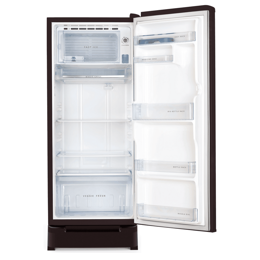 Whirlpool 200L Icemagic Powercool Single Door Refrigerator ( 71628 , 215 IMPC ROY , 3 Star , Wine Abyss )
