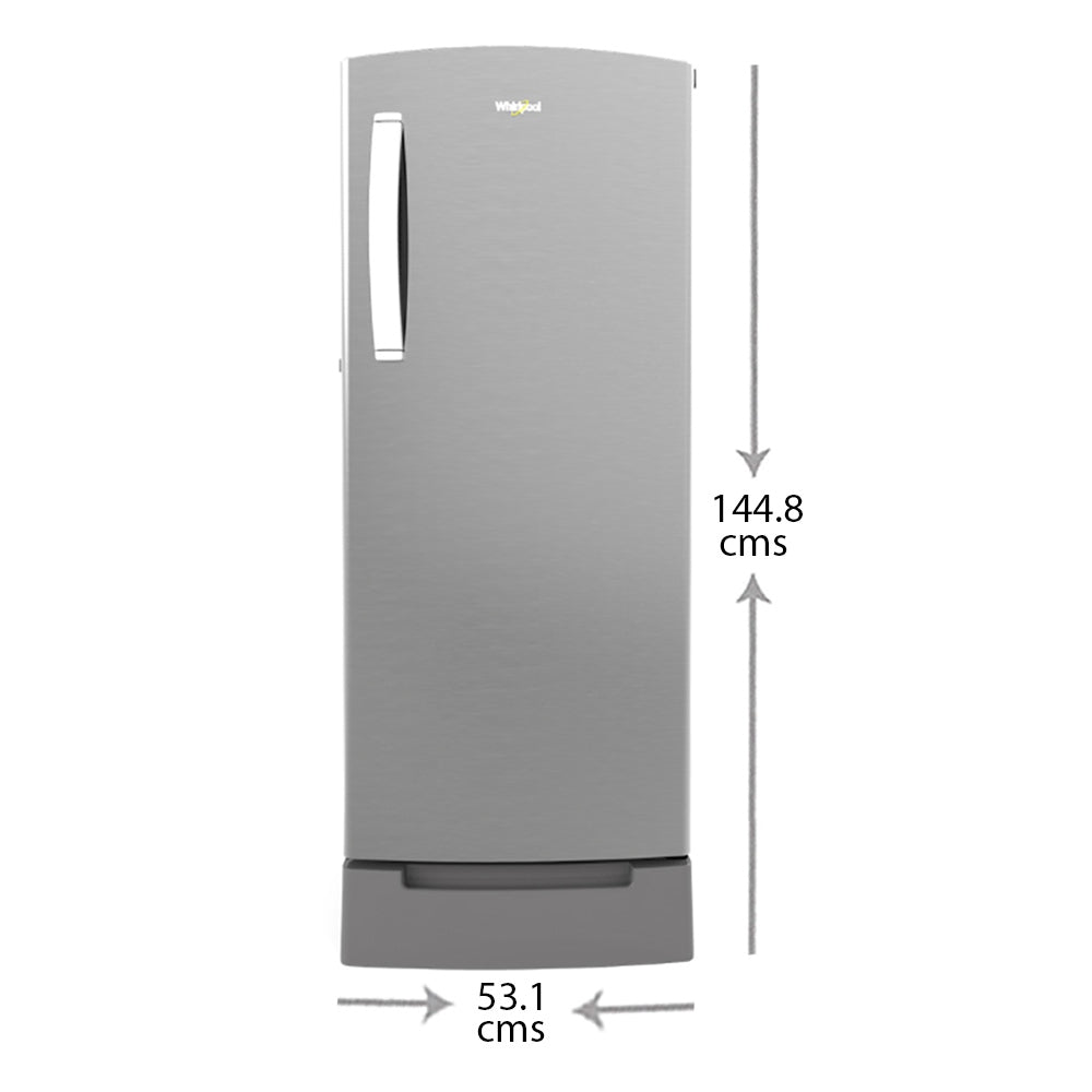 Whirlpool Icemagic Pro 200L Single Door Refrigerator (71631,New Crescent Door Design With Breathe Arc Handle,3 Star,Cool Illusia,10 Years Warranty)