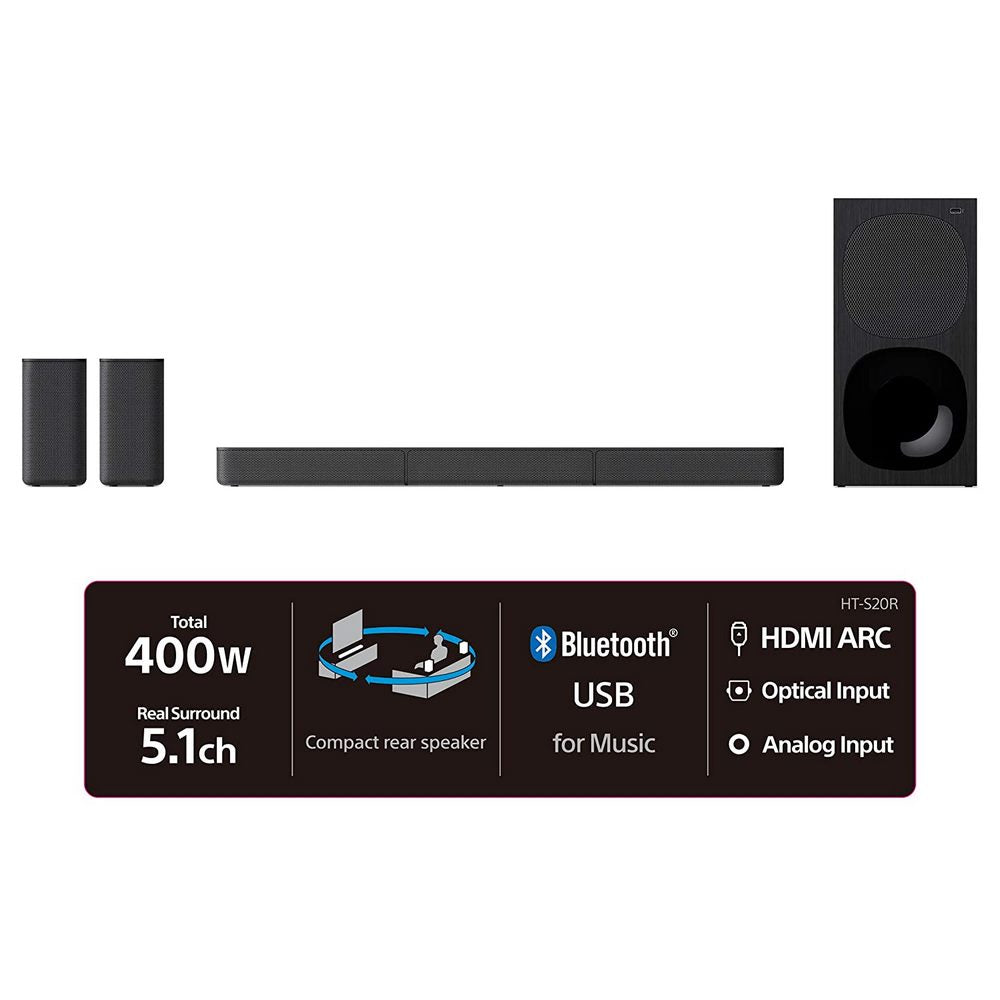 Sony S20 5.1ch Home Cinema Soundbar System