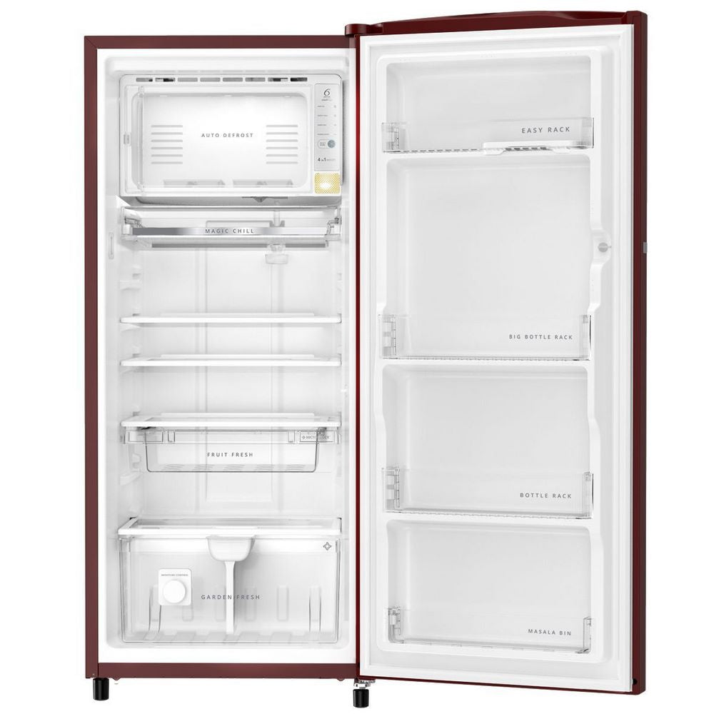 Whirlpool Icemagic Pro Plus 245L Single Door Refrigerator ( 71874 , Auto-Defrost Technology, 3 Star, Wine Abyss, 10 Years Warranty)