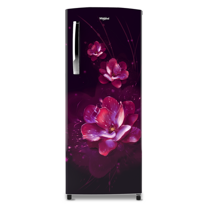 Whirlpool Icemagic Pro 200L Single Door Refrigerator New Crescent Door Design with Breathe Arc Handle , 4 Star ,Purple Flume