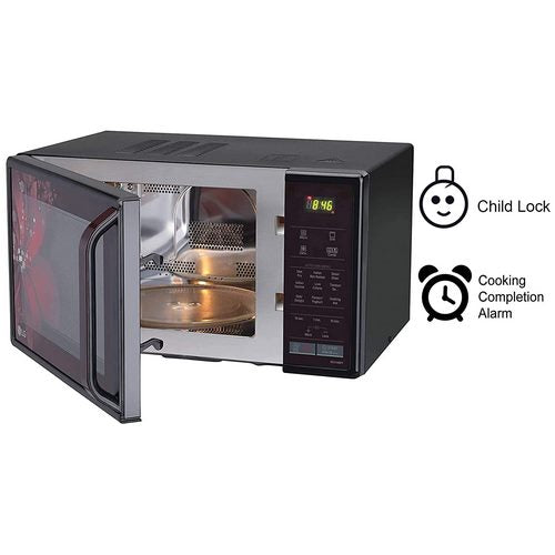 LG 21 L Convection Microwave Oven (MC2146BRT, Black, Diet Fry, With Starter Kit)