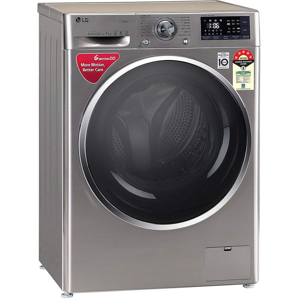 LG 7 Kg 5 Star Inverter Wi-Fi Fully-Automatic Front Loading Washing Machine ( FHT1207ZWS )