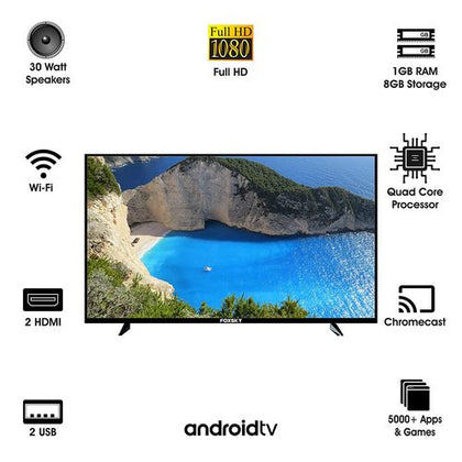 Foxsky 101.6 cm (40 inches) Full HD Smart LED TV 40FSFHS (Black) (2021 Model)