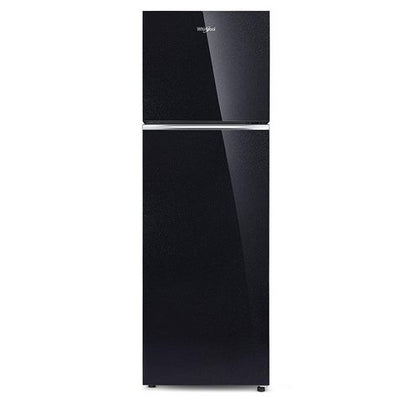 Whirlpool 265 L 2 Star Frost-Free Double Door Refrigerator with Glass Door (NEOFRESH GD PRM 278 2S, Crystal Black)