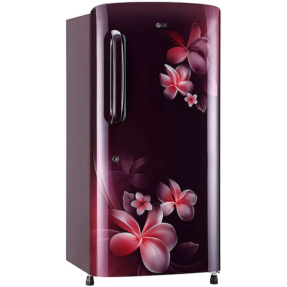 LG 215 L 3 Star Direct-Cool Single Door Refrigerator (GL-B221ASPD, Scarlet Plumeria)
