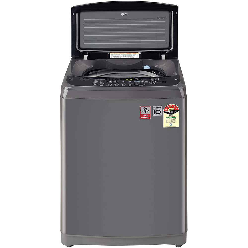 LG 7 Kg 5 Star Inverter Fully-Automatic Top Loading Washing Machine (T70SJMB1Z, Middle Black, Jet Spray+)