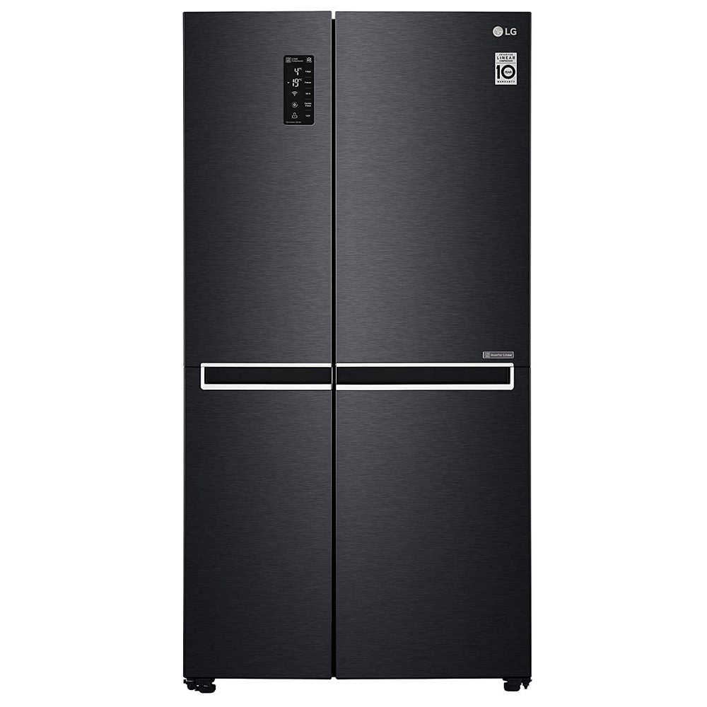 LG 687 Ltr, Inverter Linear Compressor, DoorCooling+™, LG ThinQ, Smart Diagnosis™, MOIST 'N' FRESH ( GC-B247SQUV , Mate Black Color )