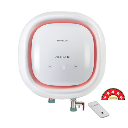 Havells Adonia R 15 Litre Digital Storage Water Heater with Remote ( HVLSWH-ADONIADIGI15L , White)