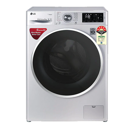 LG 8kg Fully Automatic Front Loading Washing Machine - FHT1408ZNL , Silver