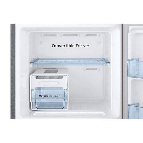Samsung 265 L  Curd Maestro 3 Star Inverter Frost Free Double Door Refrigerator (Red, Convertible)