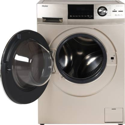 Haier 7.5 kg Fully-Automatic Front Loading Washing Machine (HW75-BD12756NZP, Golden)