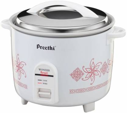 Preethi RC-321 2.2-Litre Double Pan Electric Rice Cooker  (2.2 L, White & Red)