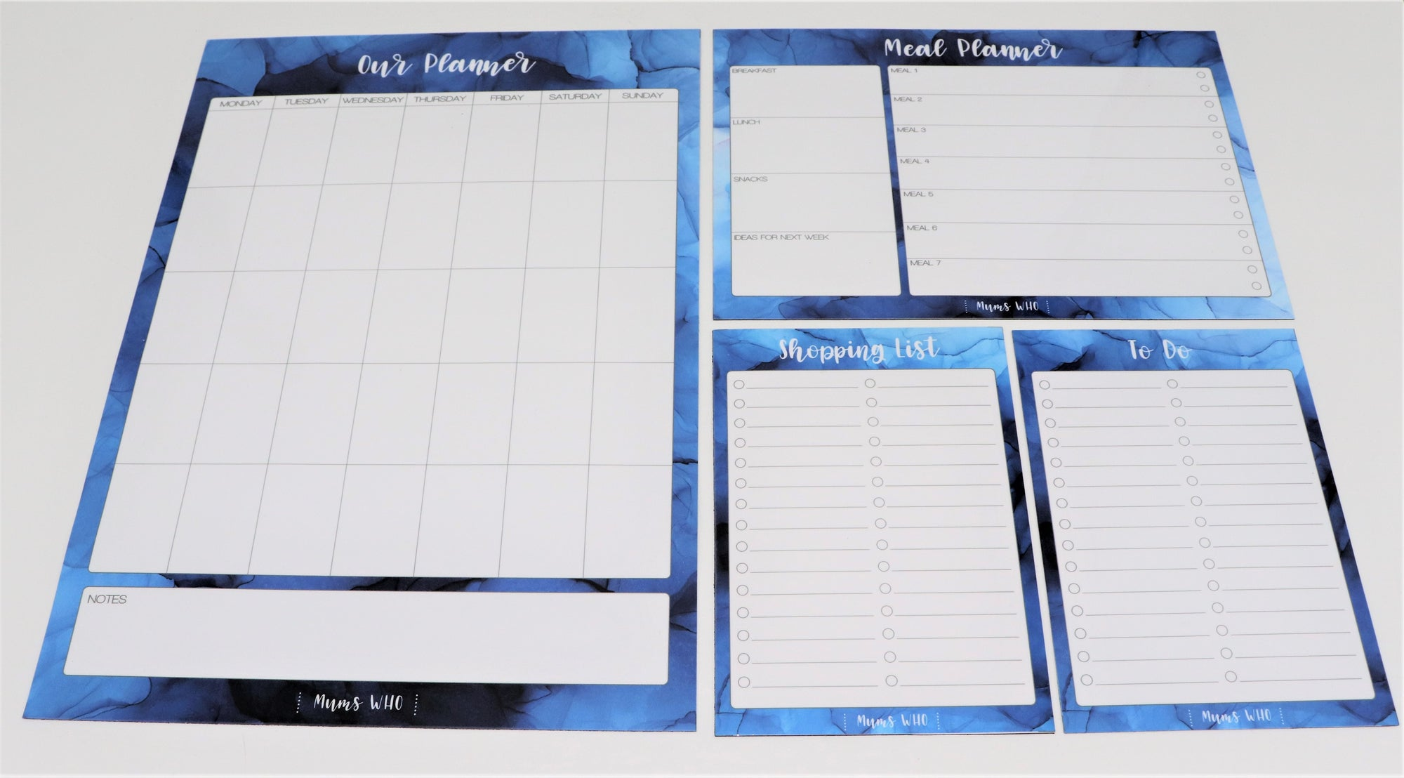 Mums Who Magnetic Organisation Set - Blue  (in stock)