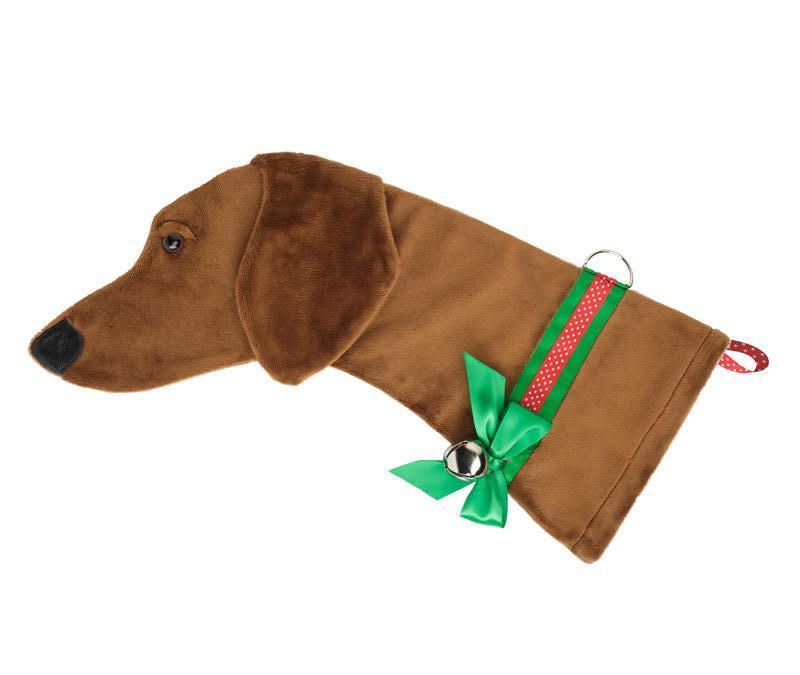 This Red Dachshund dog Christmas stocking is perfect for stuffing toys and treats into to spoil your fur baby for Christmas, or whatever holiday you celebrate!