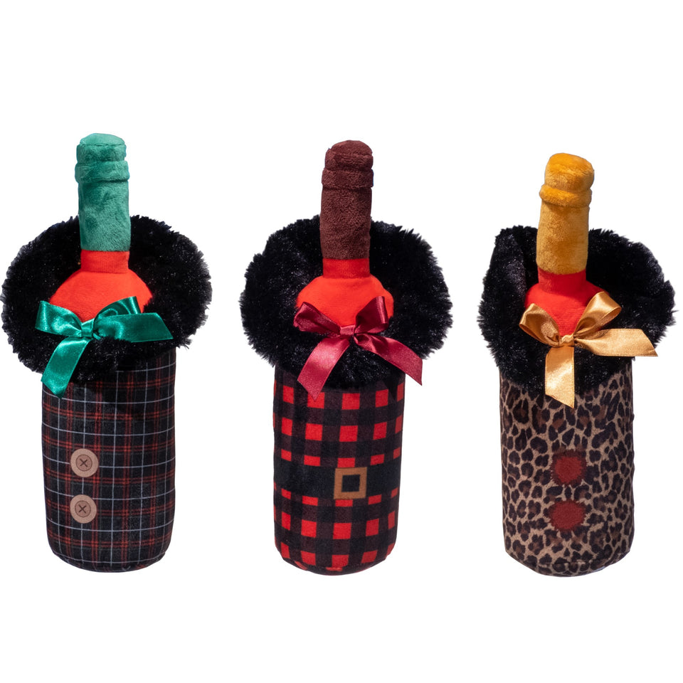 Designer Holiday Wine Bottles 3 Pack