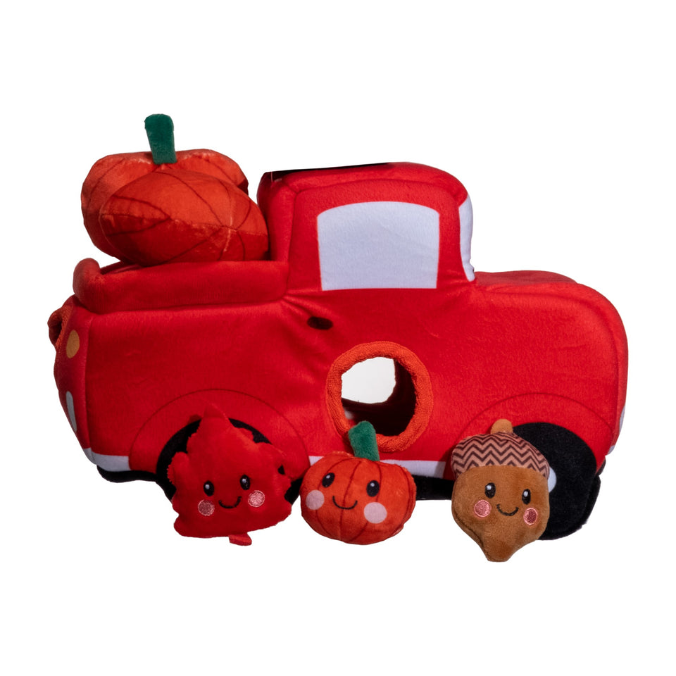 Fall Festival Truck W/Three Removable Squeaker Toys