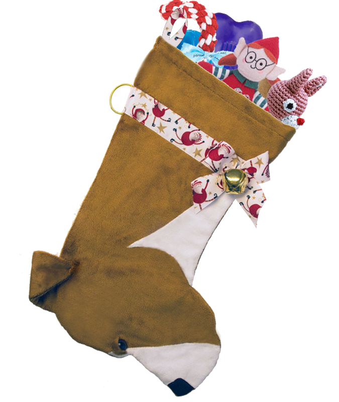 This Pit bull dog Christmas stocking is the perfect gift for stuffing toys and treats into to spoil your fur baby for Christmas, or whatever holiday you celebrate!