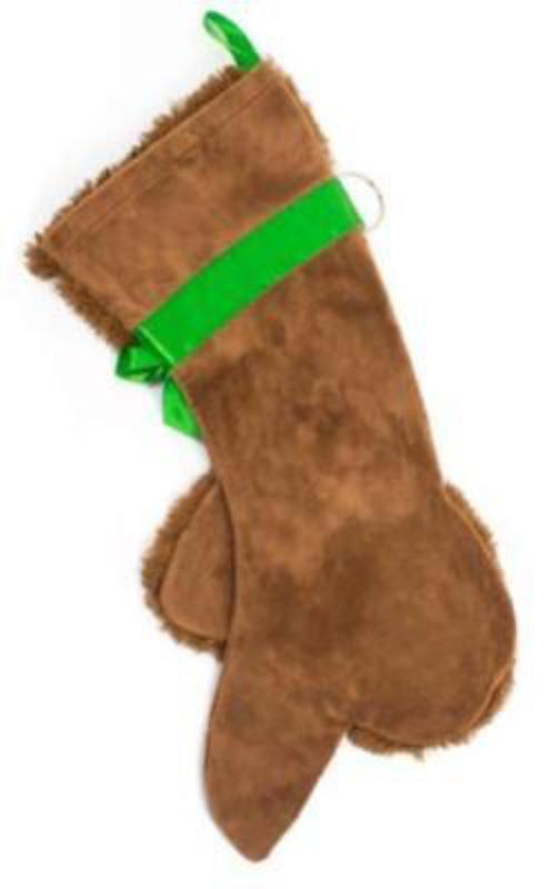 This Brown Poodle shaped Christmas dog stocking is the perfect gift for stuffing toys and treats into to spoil your fur baby for Christmas, or whatever holiday you celebrate!
