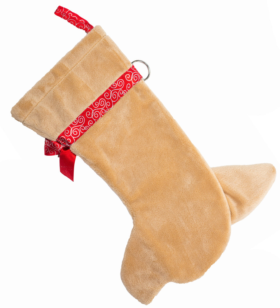 This Chihuahua Christmas dog stocking is the perfect gift for stuffing toys and treats into to spoil your fur baby for Christmas, or whatever holiday you celebrate!