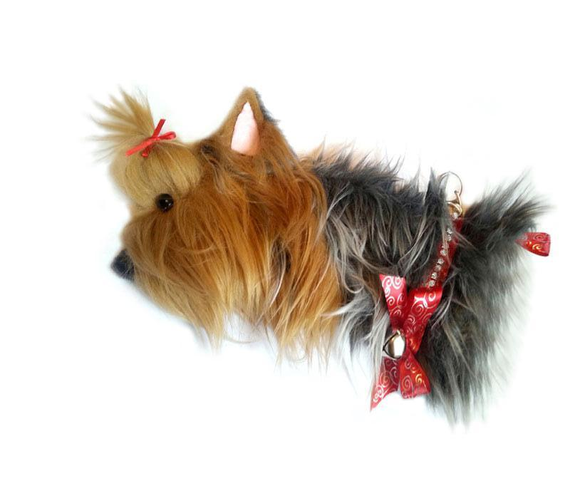 This Yorkshire Terrier shaped dog Christmas stocking is the perfect gift for stuffing toys and treats into to spoil your fur baby for Christmas, or whatever holiday you celebrate!