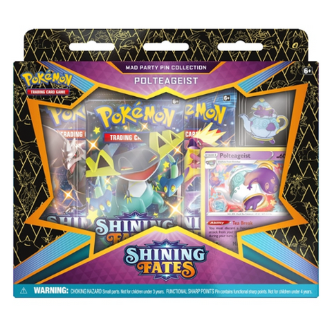 *PRE-ORDER* Pokémon Trading Card Game Shining Fates Polteageist Mad Party Pin Collection