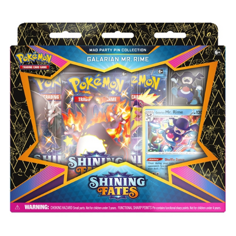 *PRE-ORDER* Pokémon Trading Card Game Shining Fates Galarian Mr. Rime Mad Party Pin Collection