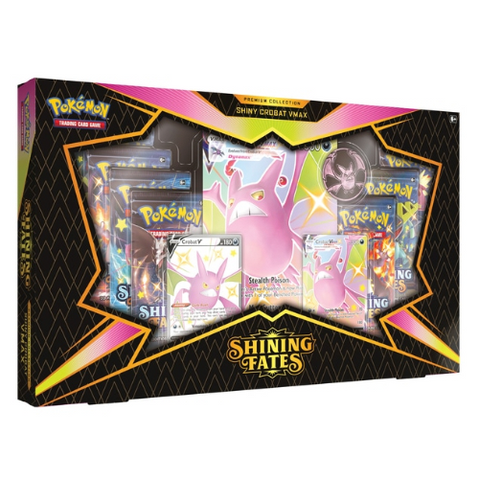 Pokémon Trading Card Game Shining Fates Shiny Crobat V Premium Collection