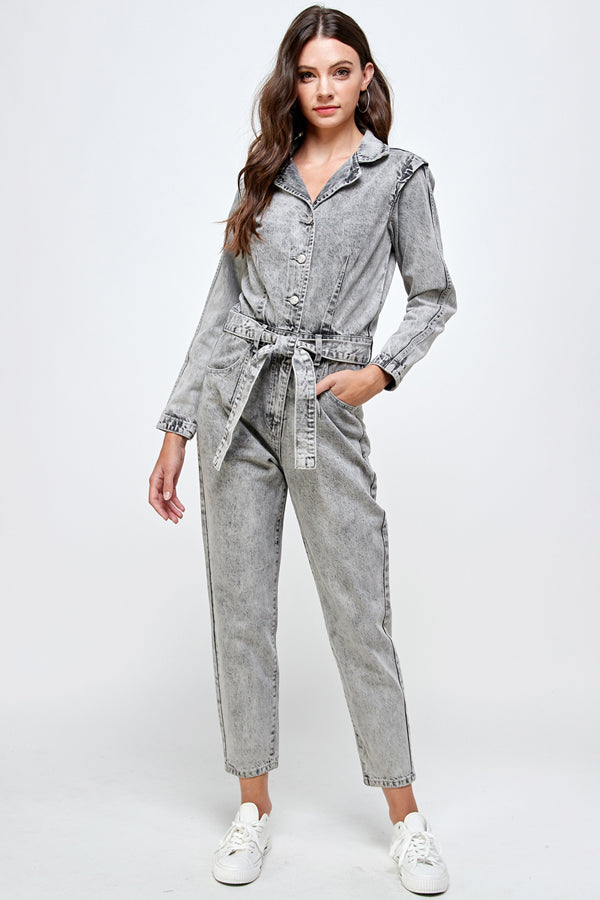 Acid Gray Power Jumpsuit