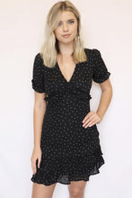Load image into Gallery viewer, Black White Star Print Mini Dress