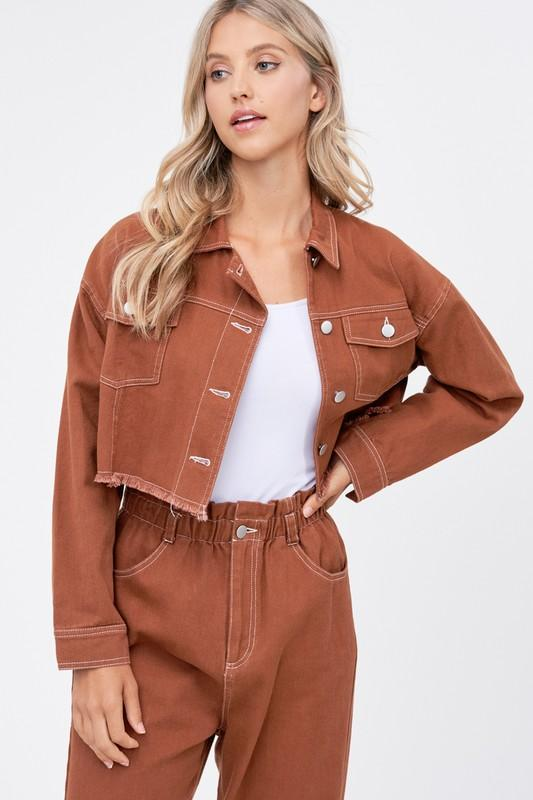 Homegirl Brown Cropped Jacket