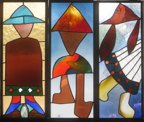 New Work by Peter Mollica- Stained Glass Legend!