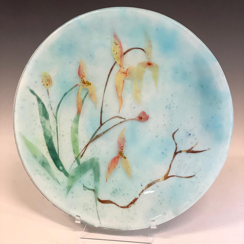 Dimensional Orchid Plate