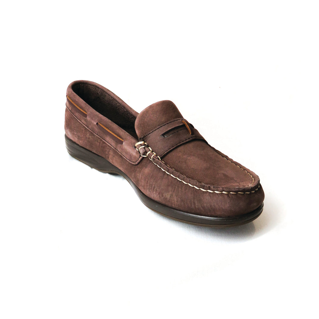 Sardinia Ladies Deck Shoe in Cafe