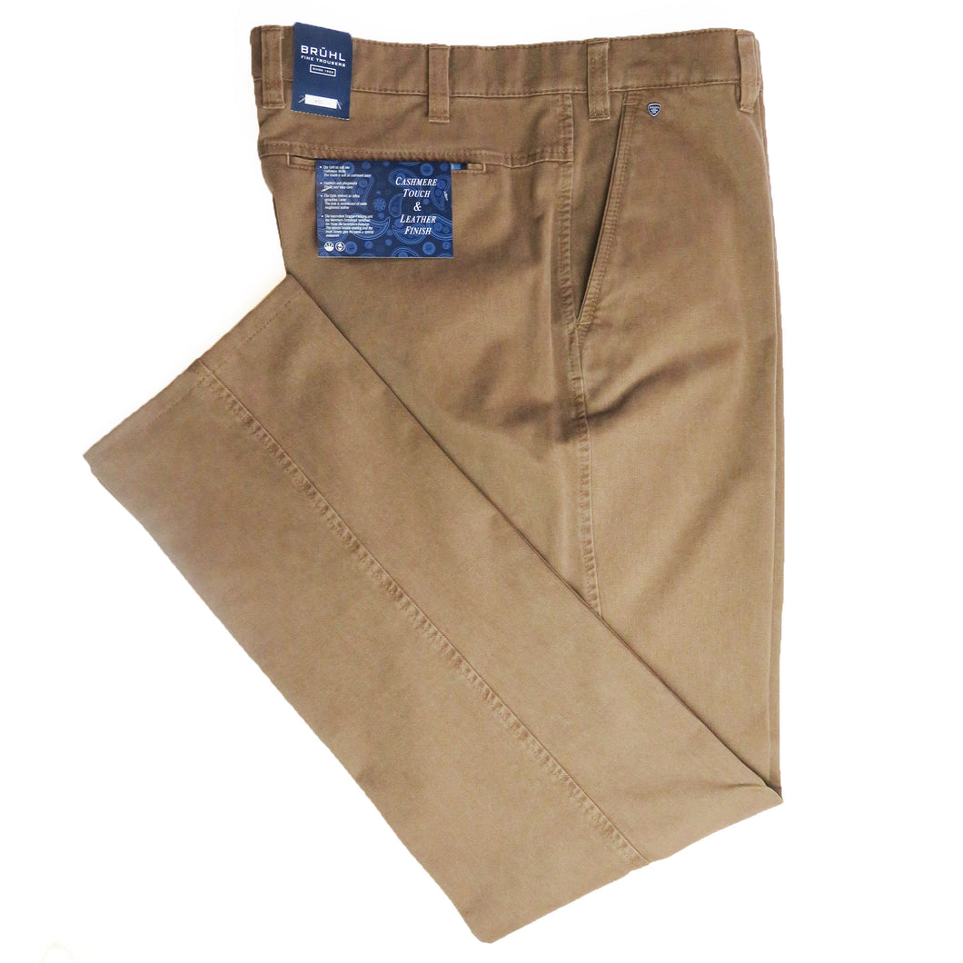 Bruhl Chinos Brown Pima Cotton