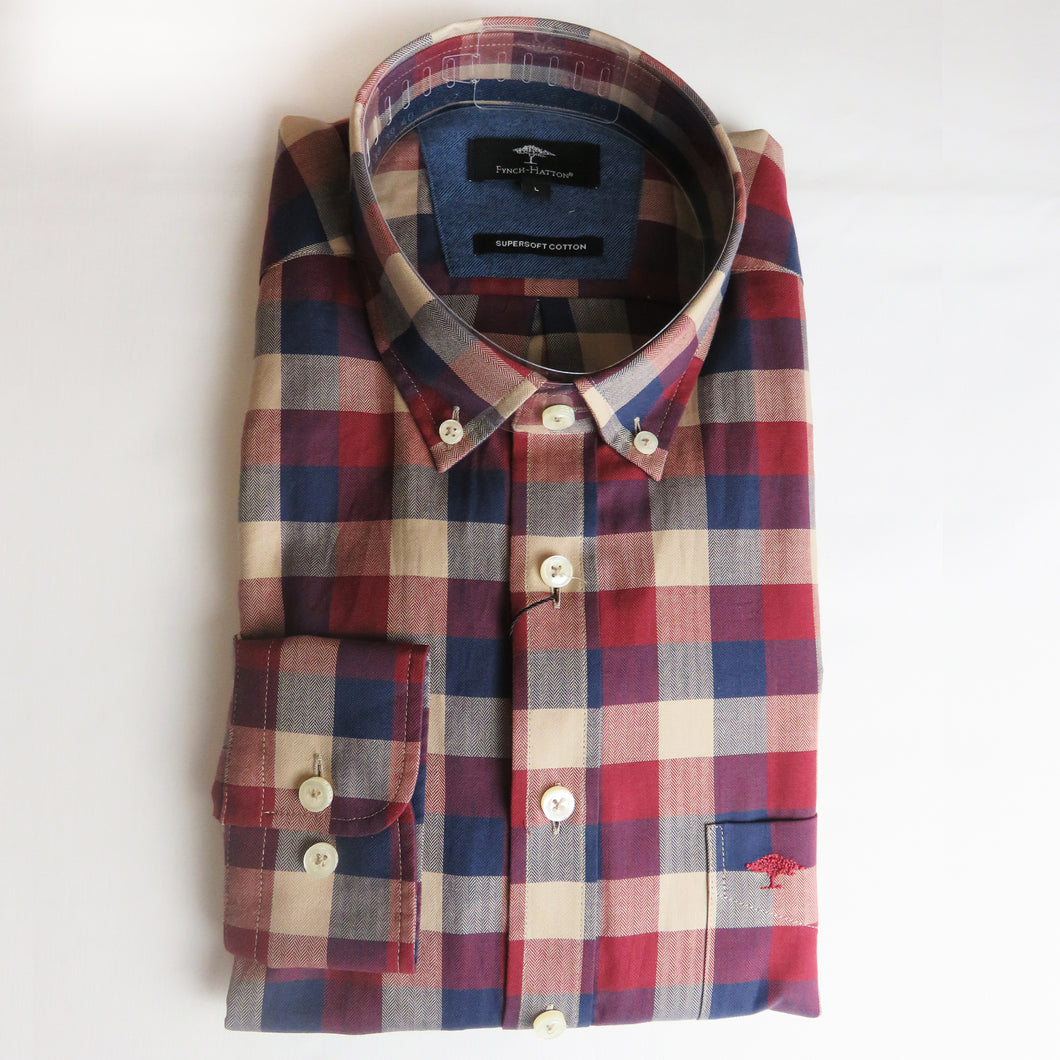 Fynch Hatton Large Check Shirts