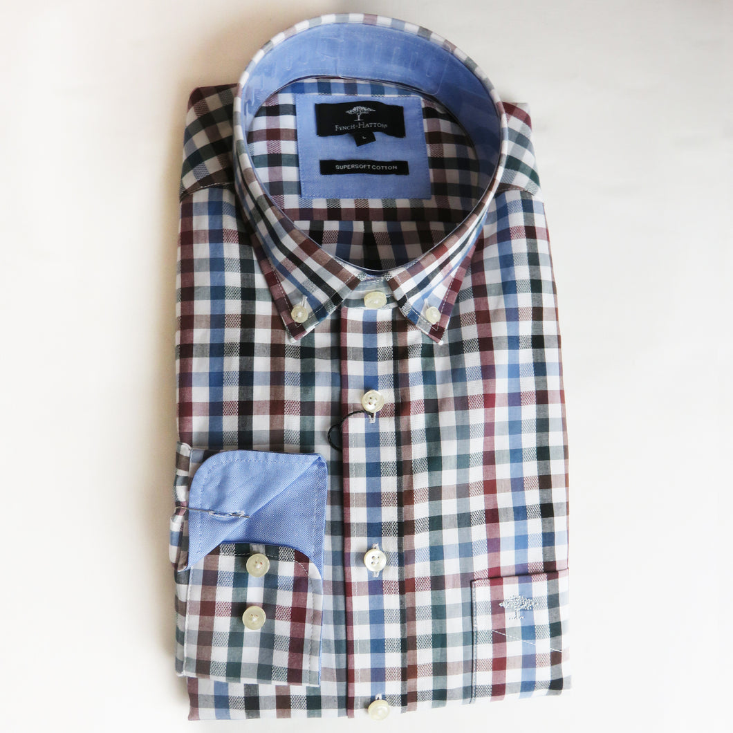Fynch Hatton Small Checked Shirts