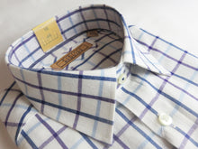 Load image into Gallery viewer, Gurteen Blue & Purple Check Shirt