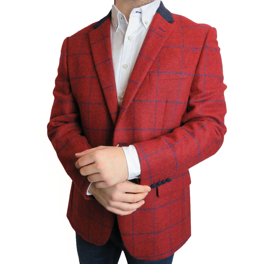 Santanelli Red Check Jacket