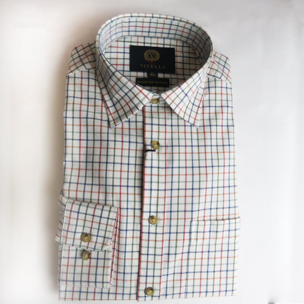 Viyella Cotton & Wool Shirt in Small Check