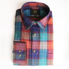 Load image into Gallery viewer, Viyella Cotton & Wool Shirt in Large Check