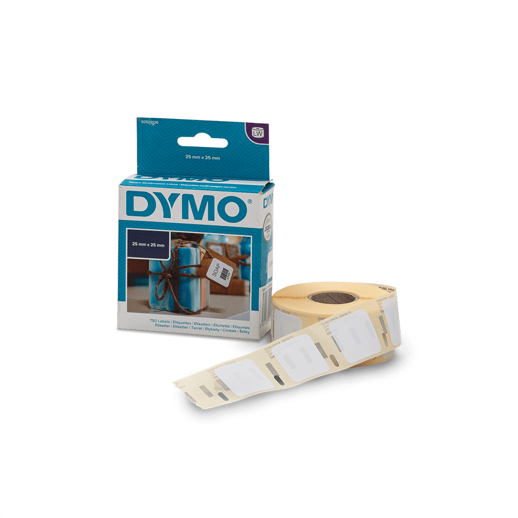 Dymo Barcode Labels 25mm x 25mm (750 labels)